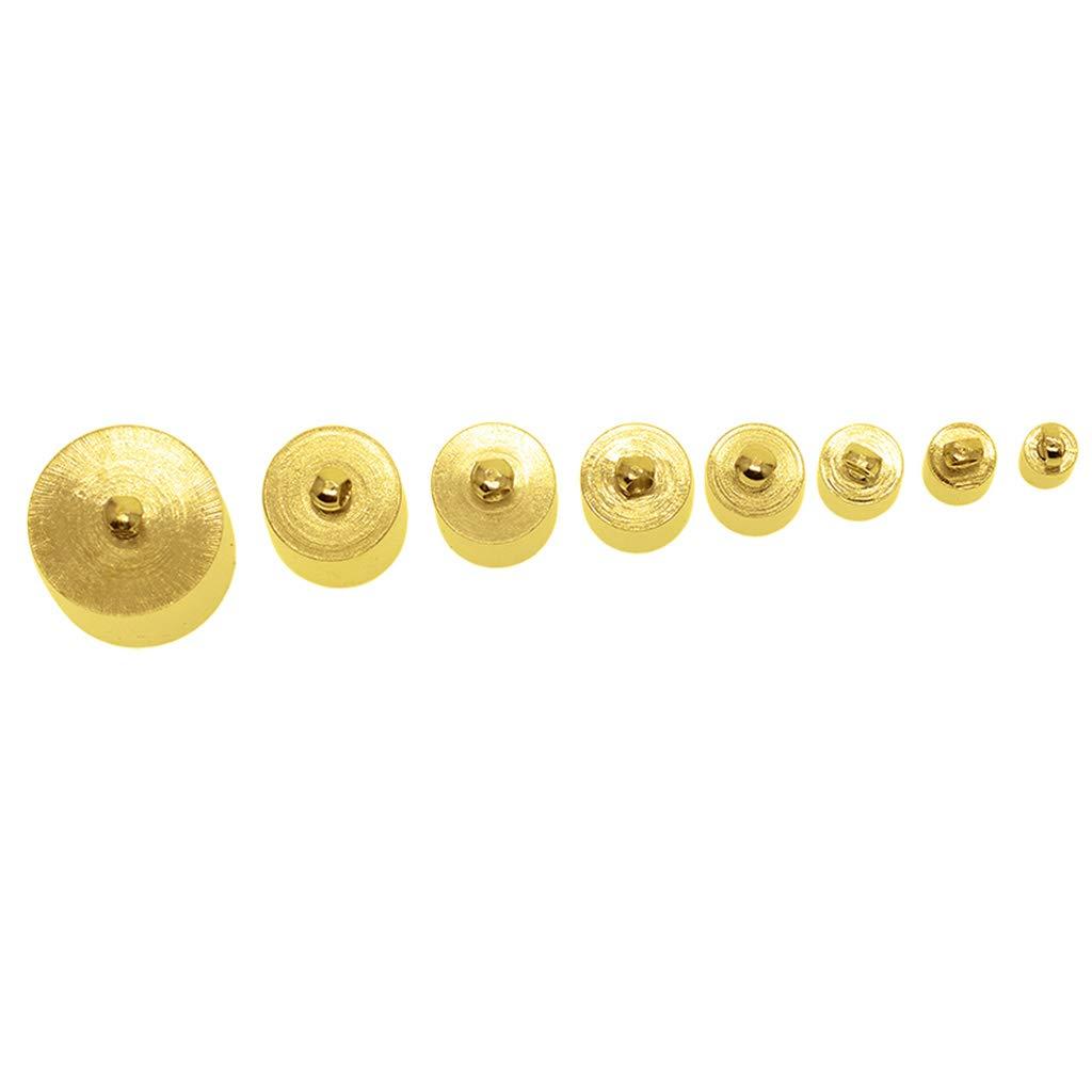 Non-brand 1 Juego De Borla Cap Cap Fin Bead Stopper Cord/ón De Cuero para Los Resultados De La Joyer/ía De Oro
