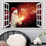 Tools & Hardware : Highpot 3D Fake Windows Wall Stickers Removable Faux Windows Wall Decal Christmas Wall Sticker (C)