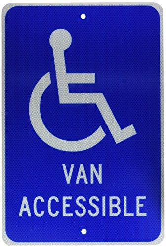 (NMC TM147J Handicap Parking Sign, Legend