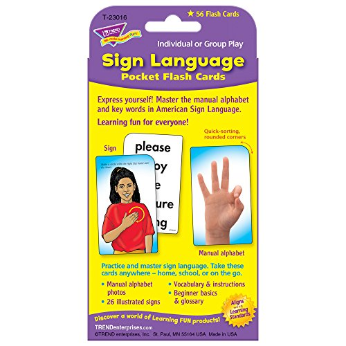 Sign Language Pocket Flash Cards Photo #5