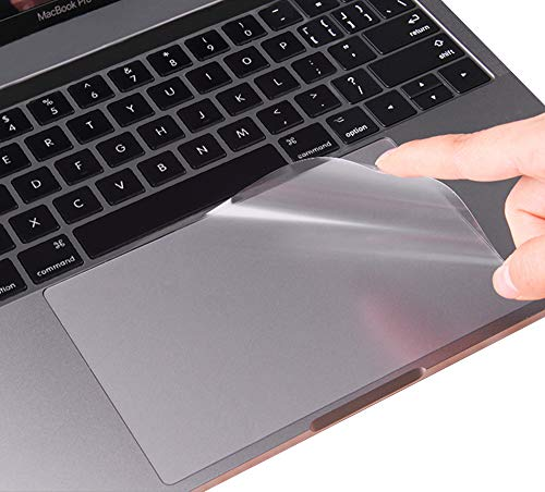 (2 Pack) Clear Anti-Scratch Trackpad Protector Touchpad Cover Skin for Newest MacBook Pro 13 Inch with or Without TouchBar Model A1706 A1989 and A1708