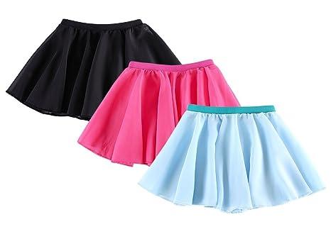 3 pcs niñas fiesta tirar de gasa falda de ballet niños infantil ...