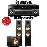 Yamaha AVENTAGE RX-A2070BL 9.2-Ch 4K Network AV Receiver + Klipsch RP-280F + Klipsch R-115SW - 2.1-Ch Home Theater Package