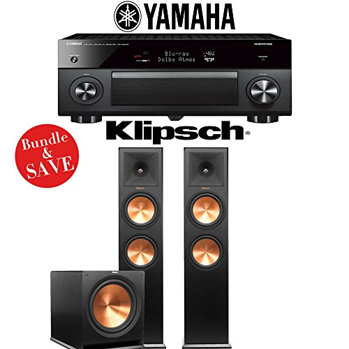Yamaha AVENTAGE RX-A2070BL 9.2-Ch 4K Network AV Receiver + Klipsch RP-280F + Klipsch R-115SW - 2.1-Ch Home Theater Package by Yamaha