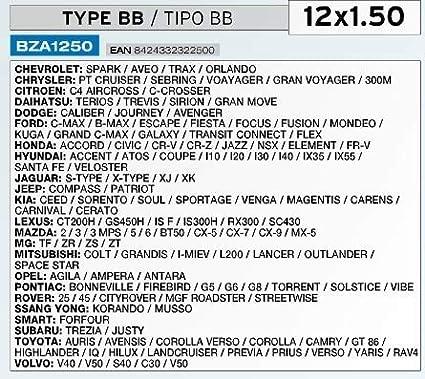 Raceflag Ecrou Antivol Jantes 12X1.50 Type BB Haute S/écurit/é Norme CE