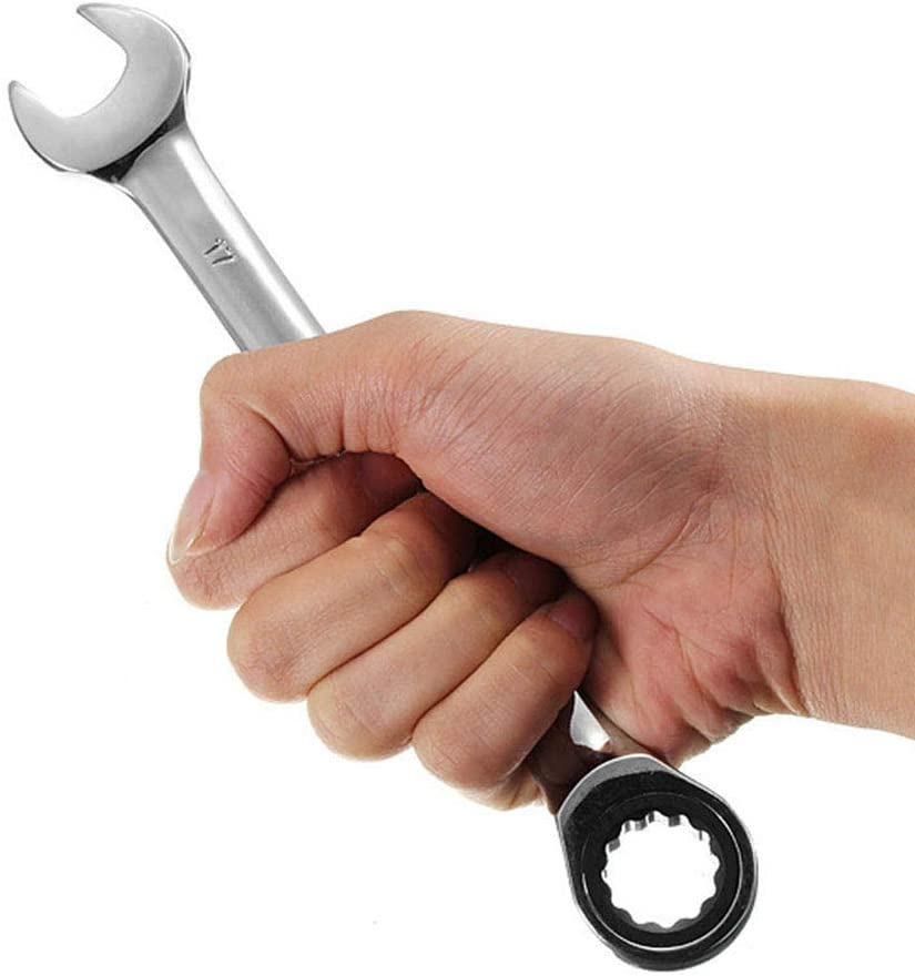 13mm Steel Fixed Head Ratchet Spanner Gear Wrench Open End /& Ring