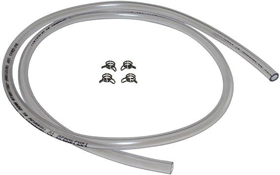 4 X 6mm Schlauchklammer Klammer Inkl 1m Benzinschlauch Für Moped Mofa Roller Hercules Kreidler Zündapp Puch Auto