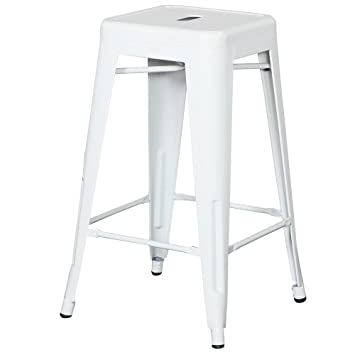 set white style metal counter stools glossy powder coated finish distressed backless leather swivel with backs