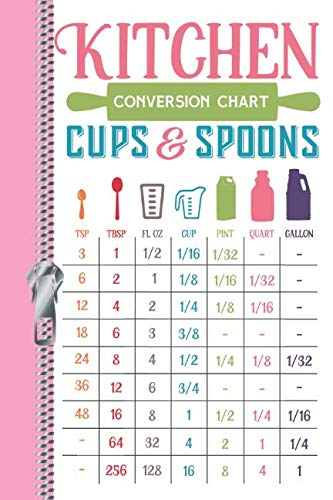 Kitchen Conversion Chart Cups & Spoons TSP TBSP FL OZ CUP PINT QUART GALLON: Cooking Cheat Sheet Write Your Own Recipe Maker Writing Log Journal Diary (Cups In A Pint In A Quart)