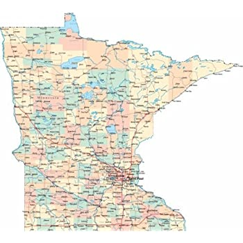 Amazon Best Maps Ever Minnesota State Parks Map 11x14 Print