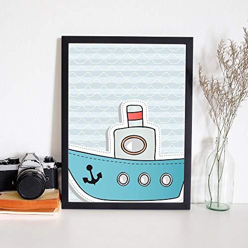 Quadro Decorativo Infantil Barco