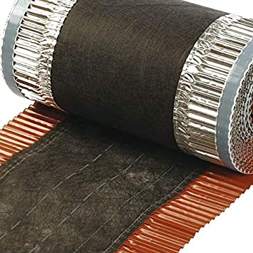 VENT-ROLL 390mm Firstband Dach Dachrolle Gratrolle Gratband Firstrolle Material Kupfer