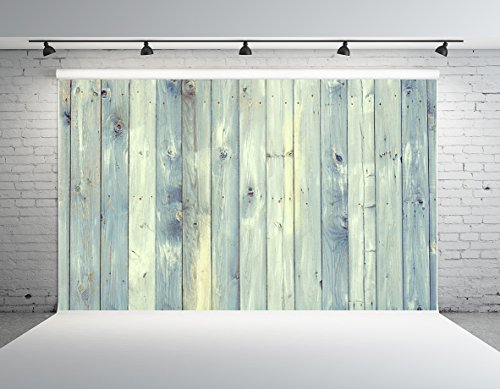 Kate 10x10ft Wood Photography Backdrop Light Blue Wooden Photo Background Microfiber Customized Photo Studio Props by Kate