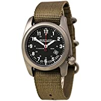 Bertucci A-2T Classic Field Watch Black/Ti-Khaki Band 12724