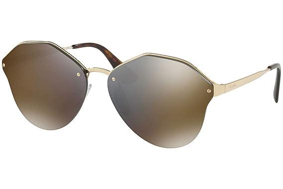 Amazon.com: Prada pr64ts anteojos de sol w/oro pálido gris ...