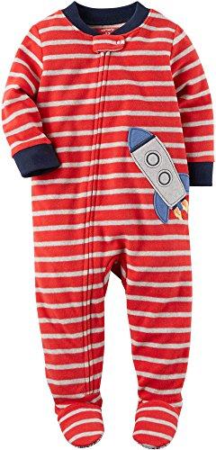 f6e108d16 Galleon - Carter s Baby Boys  12M-24M One Piece Rocket Fleece PJS 12 ...