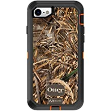 OtterBox Defender Series Case for iPhone 8 & iPhone 7 (NOT Plus) - Frustration Free Packaging - Realtree MAX 5HD (Blaze Orange/Black/MAX 5 Design)