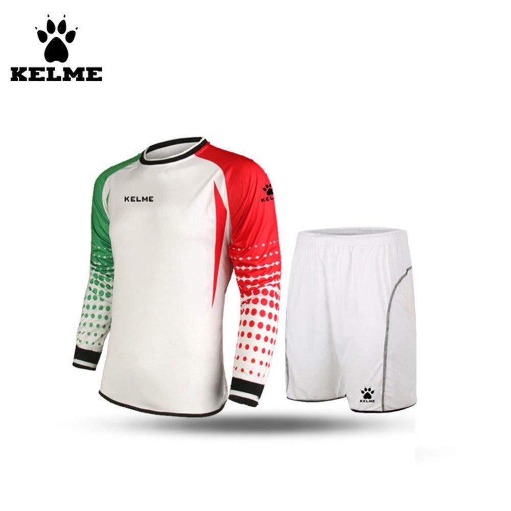 サッカーゴールキーパー長袖スーツサッカージャージーセット B01E87DWM8 Small|White/Red/Green White/Red/Green Small