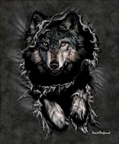 Raschel Plush Queen Blanket (Wolf Breakout Queen Size Plush Raschel