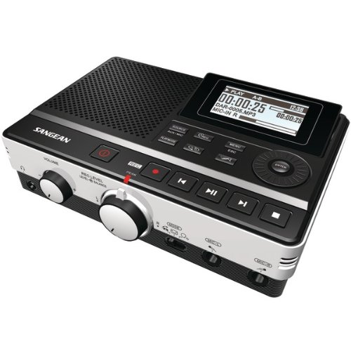 SANGEAN DAR-101 Digital Audio Recorder with Phone Answering Capability by Sangean