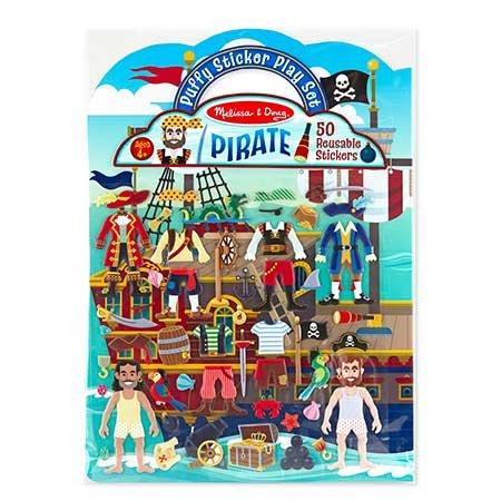 Melissa & Doug Puffy Sticker Play Set - Pirate (Pack Of 48) by Melissa & Doug