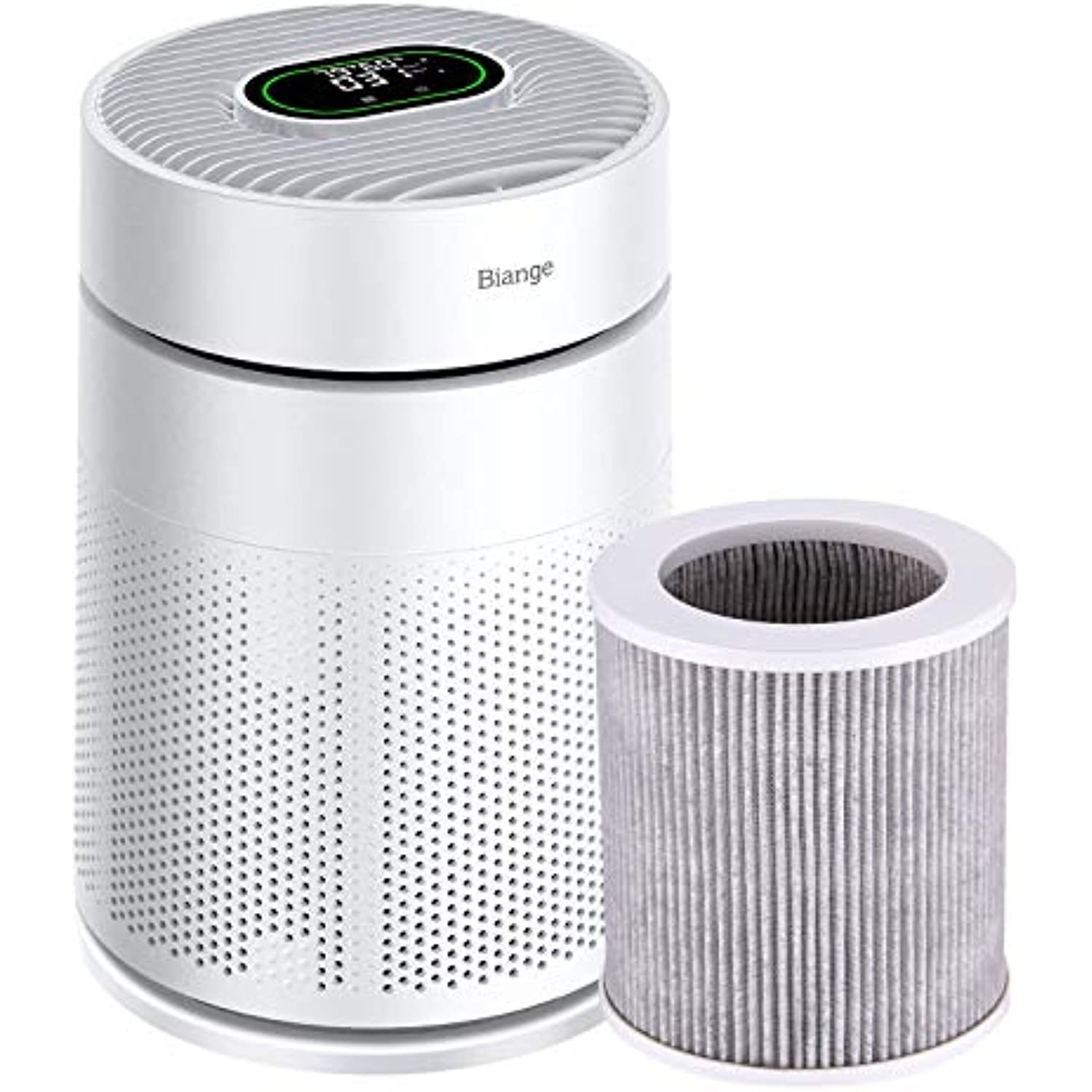 Biange Air Purifiers for Home Large Room with Air Quality Sensor, with Extra Filter replacement, KQ-26
