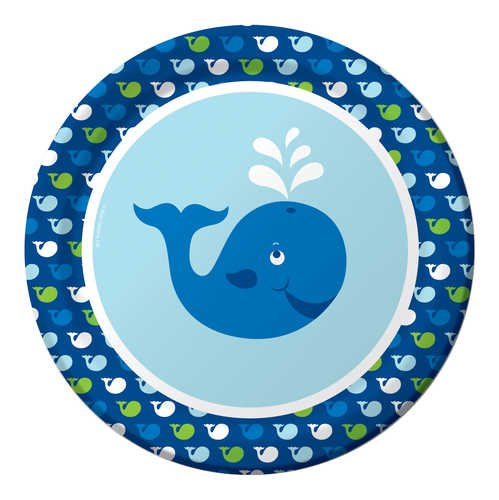 8-Count Round Paper Dinner Plates, Ocean Preppy Boy ()