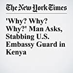 'Why? Why? Why?' Man Asks, Stabbing U.S. Embassy Guard in Kenya | Jeffrey Gettleman