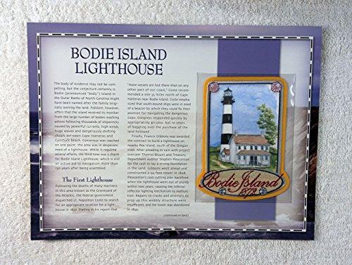 (Bodie Island Lighthouse - Bodie Island, North Carolina - Patch & Statistics Card - Willabee & Ward (2002))