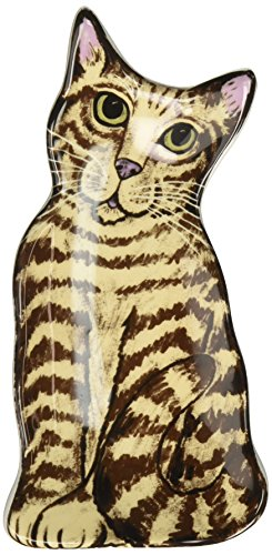Rescue Me Now Brown Tabby Cat Spoon Rest, (Brown Tabby Cat)