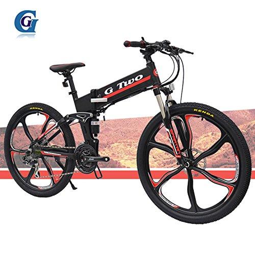 G7S 24 Velocidad, 26 Pulgadas, 48V / 7.8AH, Bicicleta Plegable eléctrica de batería de Litio Oculta, Suspensión, radios, Bicicleta de montaña.