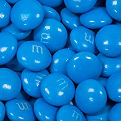 Blue M&Ms Candy 2lb (Free Cold Pack) - Milk Chocolate