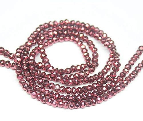 Beads Bazar Natural Beautiful jewellery Pyrite Copper Coated Faceted Rondelle Gemstone Loose Craft Beads Strand 13