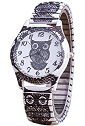 2016 Printing Pattern Colorful Elastic Band Watches Skull Pattern Peacock Pattern Owl Pattern Personality Women Wristwatches Owl