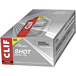 CLIF SHOT - Energy Gel - Double Espresso - With Caffeine (1.2 Ounce Packet, 24 Count)
