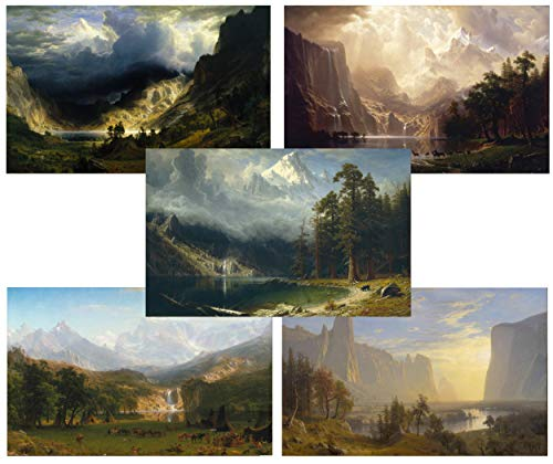 TMP Albert Bierstadt - Mountain Scenes - 5 Art Prints - 11x17