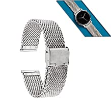 Moto 360 2nd Gen Band (46mm), Lucco 22mm Metal Watch Band Strap for Pebble Time Steel, Asus Zenwatch 2nd W1501Q