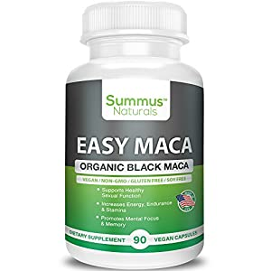 Organic Black Maca – Boost Sexual Performance & Stamina, Increase Mental Focus, Energy & Memory – 100% All Natural, Vegan, Gluten Free, Soy Free & Made in USA