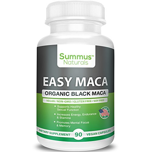 Summus Naturals Organic Black Maca – Boost Sexual Performance & Stamina, Increase Mental Focus, Energy & Memory – 100% All Natural, Vegan, Gluten Free, Soy Free & Made in USA by Summus Naturals