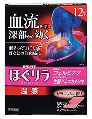 Lion HOGRELA Analgesic & Anti-Flammatory Cataplasm HOT type 12 sheets from Japan