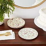 Gracie China Rose Chintz Porcelain 8-Inch Dessert