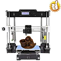 Perfect-Office A8-W5 3D Printer DIY Wood high-Precision LCD Desktop 3D Printer kit, Comes with a Free 1.75mm PLA Printer Filament Build Size 220X220X240mm (self-Assembly) (Black) (Black) from Perfect-Office