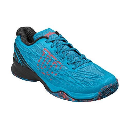 Wilson Wrs322820e095, Chaussures de Tennis Homme, Bleu (Hawaiian Ocean / Black / Fiery Coral), 44 EU