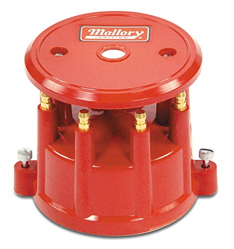 (Mallory 208M Distributor Cap (8Cyl Screw Down Red))