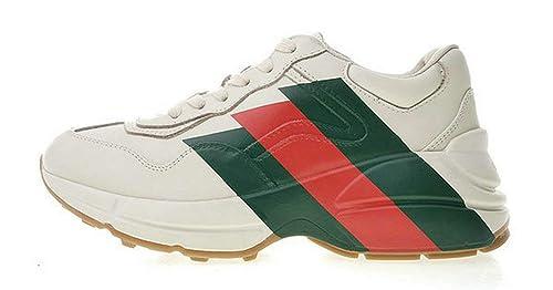 Gucci Rhyton Web Print Vintage Trainer White Uomo Donna Scarpa ... de7e66328a6b