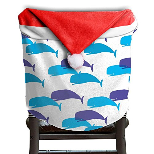 Whale Animal Christmas Chair Covers Great Red Chair Covers For Christmas For Men And Women Christmas Chair Back Covers Holiday Festive by ChengGo