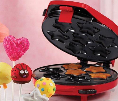 Bella Multiplate Cake Pop Maker Red – THREE different designs
