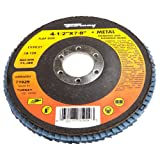 Forney 71926 Flap Disc, Type 27 Blue Zirconia with 7/8-Inch Arbor, 36-Grit, 4-1/2-Inch