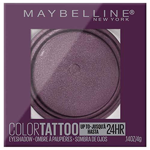 Maybelline Color Tattooup to 24HR Longwear Waterproof Fade Resistant Crease Resistant Blendable Cream Eyeshadow Pots Makeup, Knockout, 0.14 oz. (Best Cream Eyeshadow For Sensitive Eyes)