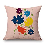 slimmingpiggy plant throw pillow covers 18 x 18 inches / 45 by 45 cm gift or decor for coffee house,club,saloon,chair,sofa,kids room - both sides